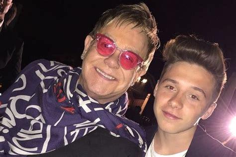 elton john victoria brooklyn beckham says elton john is coolest godfather ever