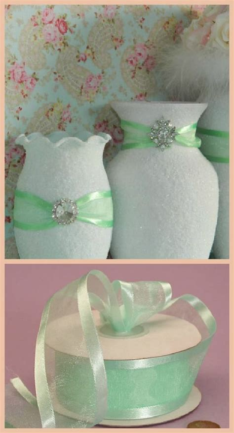 mint green wedding table centerpieces dont like the vases