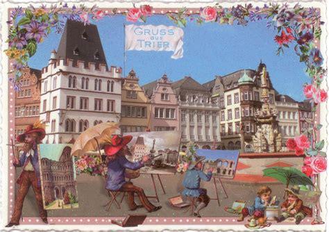 Sticker Drucken Trier by Tausendsch 214 N Gruss Aus Trier Maler Postkarte