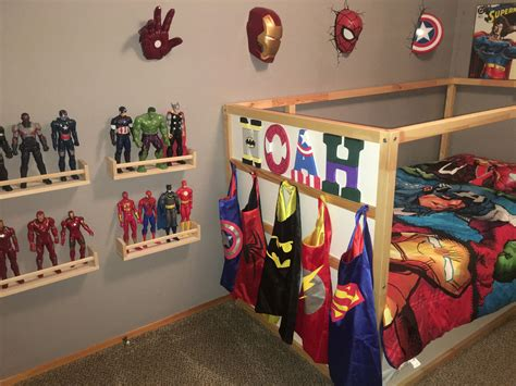 marvel bedroom decor superhero toddler boy bedroom batman superman flash spider