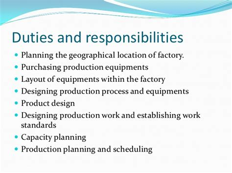 Responsibilities Of A Production Manager by 2 Duties And Responsibilities Of Production Managers
