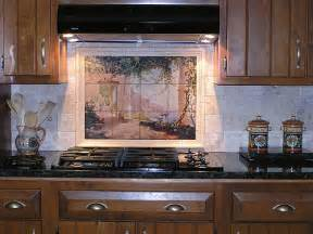 kitchen backsplash tile murals
