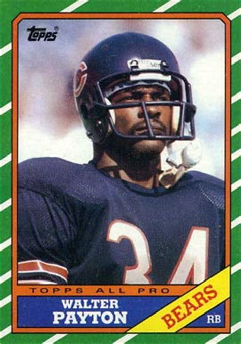 football cards value 1986 topps walter payton 11 football card value price guide