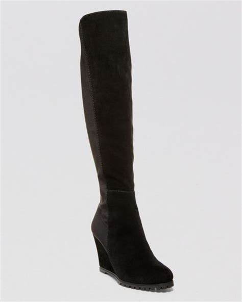 steve madden wedge boots steven by steve madden wedge boots whispper stretch in