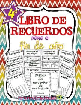 libro target grade 3 writing memory book in spanish for fourth grade libro de recuerdos memory books spanish and students