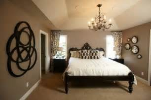 brown taupe black bedroom eat
