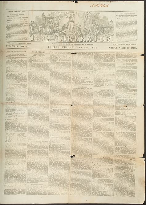 The Liberator by Abolitionist Movement Voices Of The Civil War Hbll