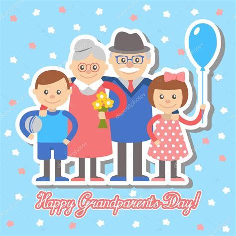 clipart nonni nonna e nonno nipoti cartolina d auguri per la festa dei