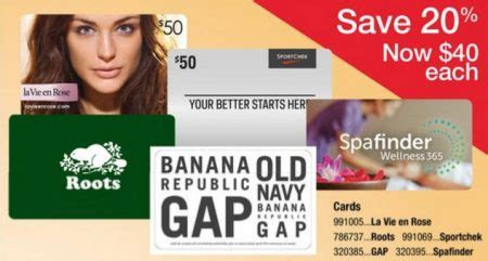 Staples Gap Gift Card 20 Off - staples 20 off gift cards to sport chek gap options roots la vie en rose