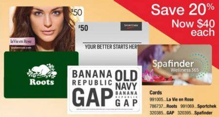 Sport Chek Gift Card Sale - staples 20 off gift cards to sport chek gap options roots la vie en rose