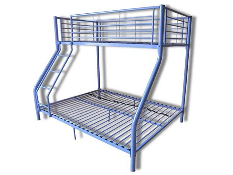 Metal Bunk Bed Frame Children Metal Sleeper Bunk Bed Frame In Purple No Mattress New Ebay