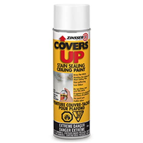 Spray To Cover Water Stains On Ceiling by Zinsser 174 Covers Up Stain Sealing Ceiling Paint Product Page