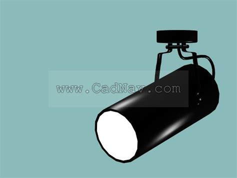 Cylindrical spotlight 3d model 3Ds Max files free download