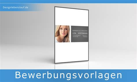 Design Vorlage Deckblatt Bewerbung Initiativbewerbung Vorlage In Word Zum Herunterladen