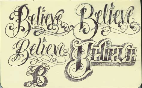 font tattoo design artistic exles of fonts