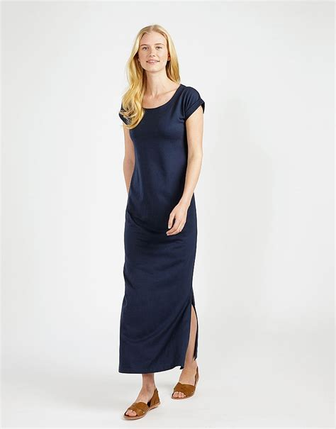 Dress Jersey s jersey maxi dress in navy from crew clothing