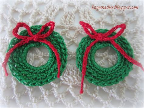 crochet pattern for xmas wreath lacy crochet mini christmas wreath free pattern