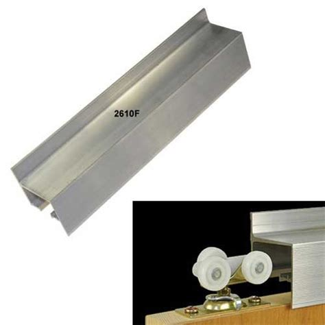 Wall Mount Sliding Door Hardware by Johnson Hardware 96 Quot Wall Mount Fascia Single Door Track