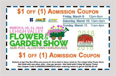 coupon lehigh valley flower show