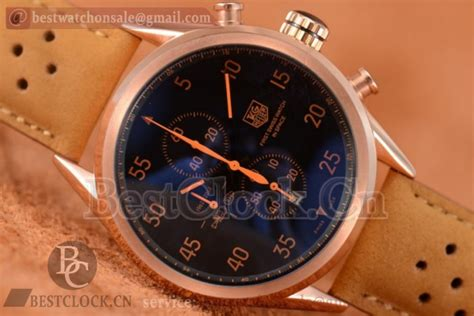 Tagheuer Space X Leather Rosegold tag heuer calibre 1887 space x chrono replica
