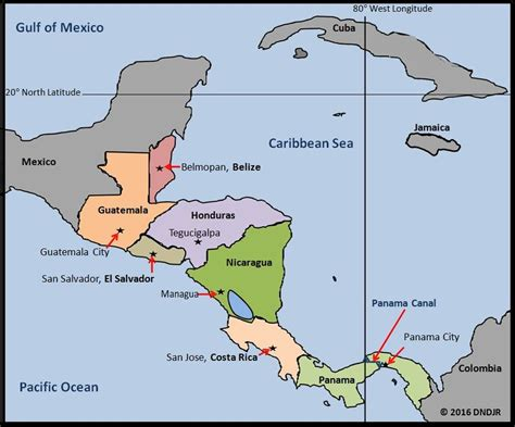 map of central america with capitals in central america www geo4u net