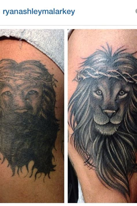 lion cover up tattoo cover up by malarkey artistic mind