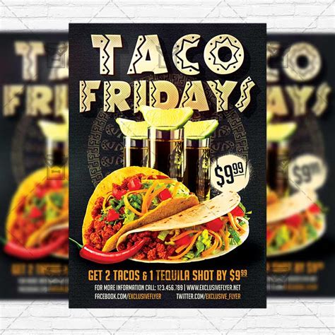 Taco Fridays Premium Flyer Template Instagram Size Flyer Exclsiveflyer Free And Premium Taco Flyer Template