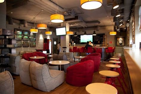bean bag restaurant contemporarycafe in moscow russia with ambient lounge