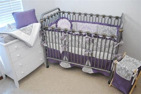 Grey Purple And Lilac Crib Bedding Next Baby Pinterest Purple Grey Crib Bedding