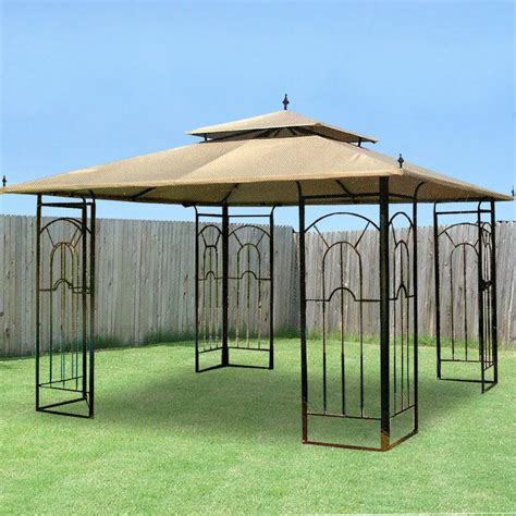 Outdoor Patio Gazebo 12x12 Garden Winds Replacement Canopy For Costco 12 X 12 Arrow Gazebo Riplock 500 Ebay