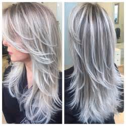 pictures of grey hairstyles with pink highlights icy blondes by heber hair colors ideas