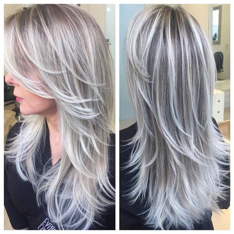 silver highlighted hair styles silver and blonde highlights hairstylegalleries com