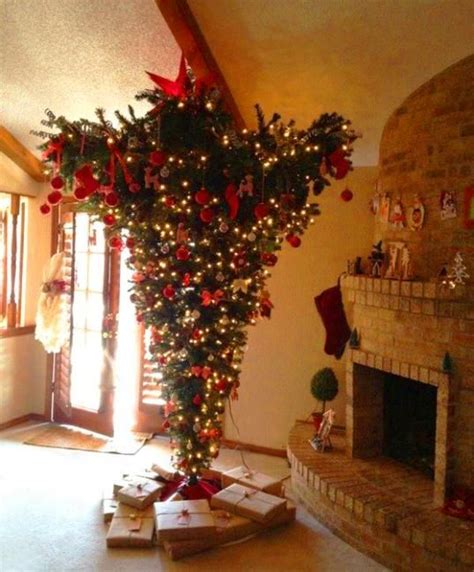 upside down christmas trees christmas decor pinterest 1000 images about upside down christmas trees on