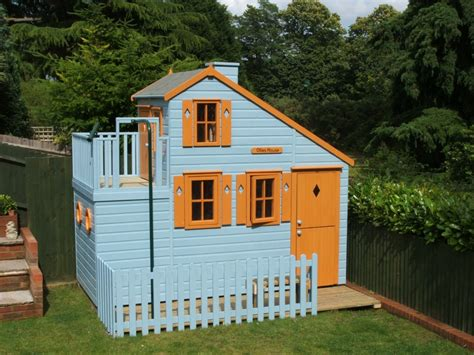 childrens house large garden play house with firemans pole playhouses