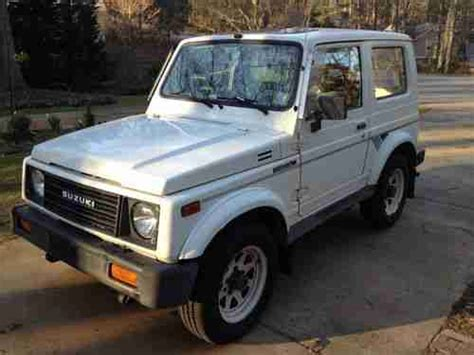 Suzuki Sidekick Gas Mileage Buy Used 1988 Tin Top Suzuki Samurai Jx Family Owned