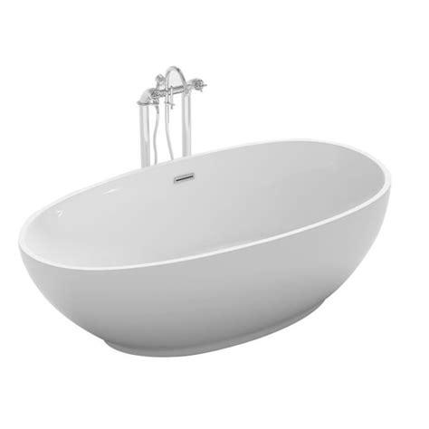kit balneo pour baignoire baignoire ilot ovale 180x90 cm en acrylique blanc achat