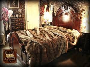 faux fur king size comforter fur accents premium faux fur coyote wolf bedspread by