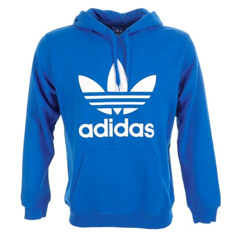 Sweater Hoodie Jumper Band Blur adidas originals trefoil hooded jumper in blue for lyst