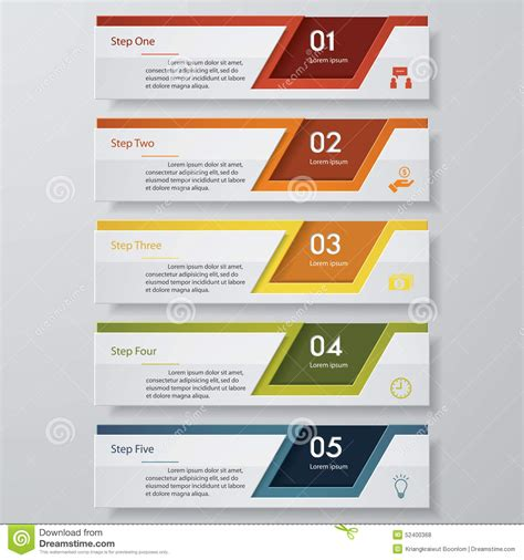 web design pricing tables template vector mock up royalty free 5 steps chart template graphic or website layout stock