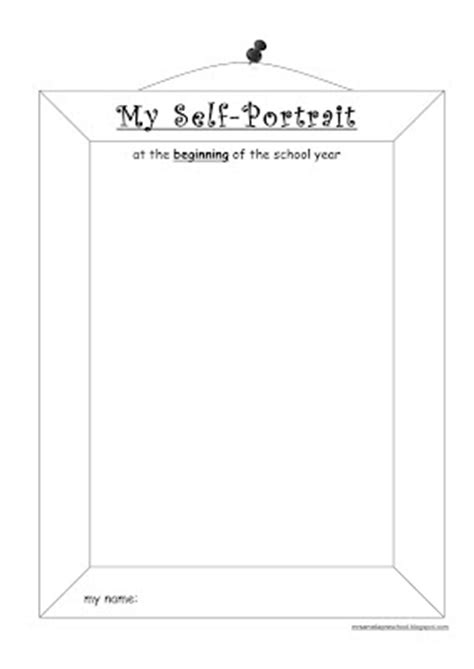 De Mello Teaching Self Portrait Self Portrait Template