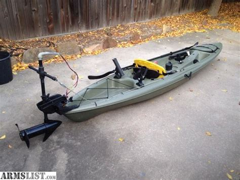 motor kayaks for sale armslist for sale fishing kayak with trolling motor