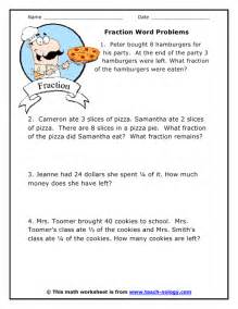 fourth grade level fraction word problems