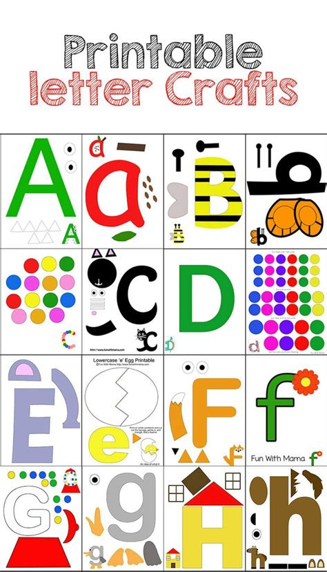 abc pattern for kindergarten 25 best ideas about alphabet letter crafts on pinterest