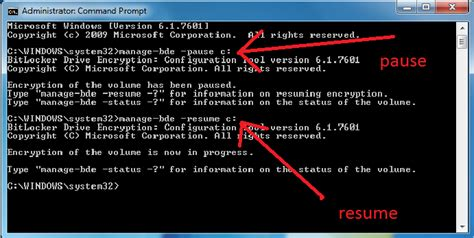 pause resume encryption just another windows noob
