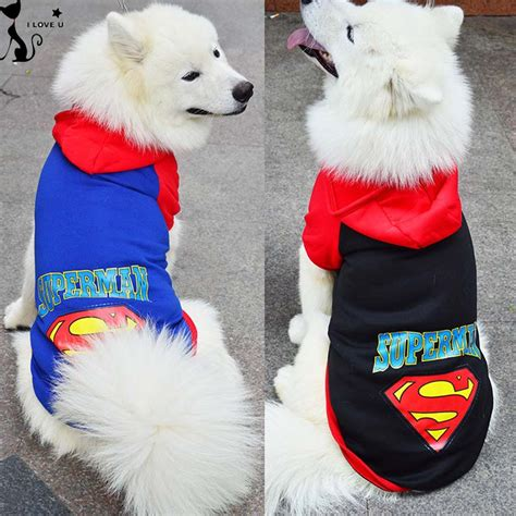 golden retriever jacket large pet clothes superman big coat jacket with