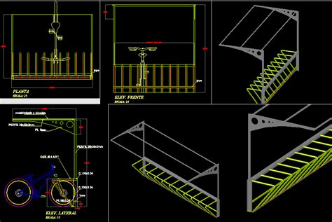 Park Bench Exercises Drawn Bike Autocad Pencil And In Color Drawn Bike Autocad