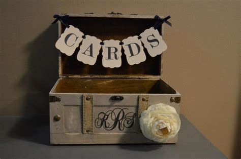 Wedding Banner Holder by Medium Vintage Wedding Card Holder W Banner And Monogram