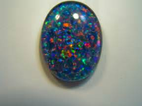 Opel Gemstone Real Stones On Black Opal Ring Opals