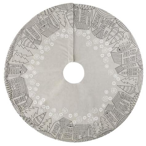 o little town tree skirt contemporary christmas tree