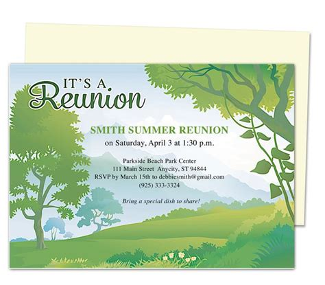 reunion invitation template 12 best printable family and class reunion templates